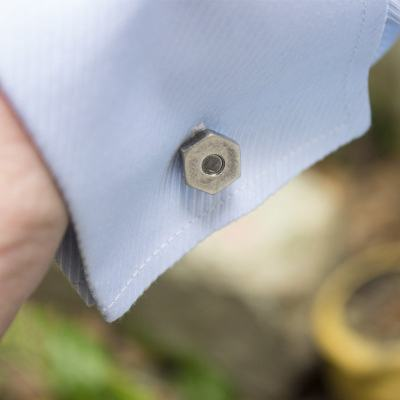 Agonal Screw Cufflinks