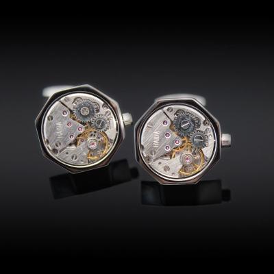 Octagonal Watch Engine Cufflinks