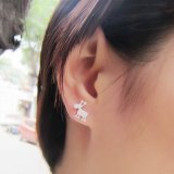 Reindeer and Snowflake Ear Stud