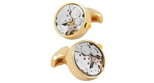 Automatic Watch Engine Cufflinks Steampunk Style Jewelry for Men