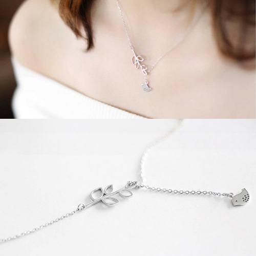 Silver Peace Bird Necklace