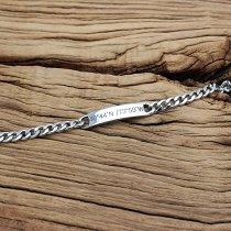 Personalized Steel Chain Bracelet