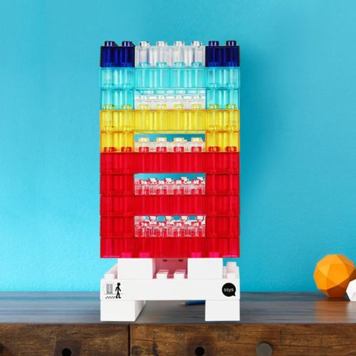 DIY Rainbow Blocks Lamp