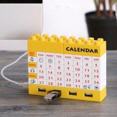 4-Port USB Hub Blocks Calendar