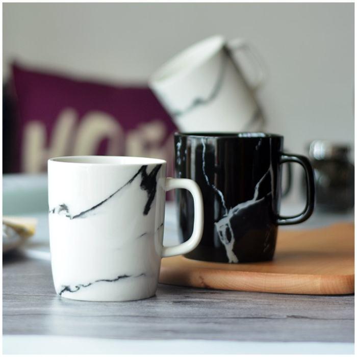 Black & White Marble Mug