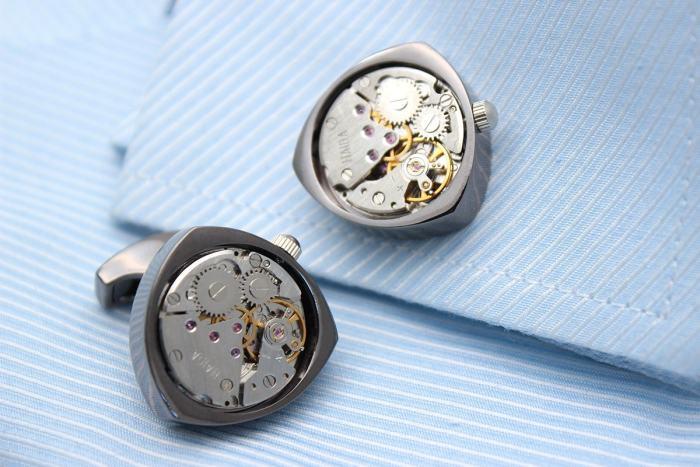 Rotor Motors Watch Engine Cufflinks