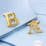 Golden Alphabets Cufflinks