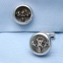 Automatic Watch Tourbillon Engine Cufflinks