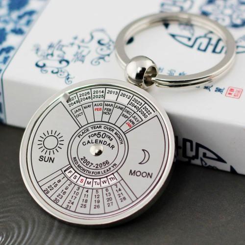 50 Years Calendar Keychain