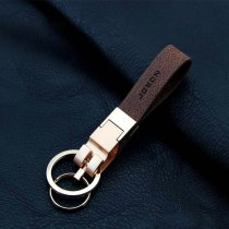 Luxury Leather Strap Keychain