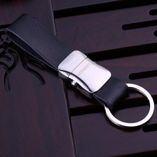 Genuine Leather Belt Keychain