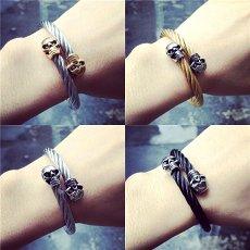 Steel Wire Skull Bracelet