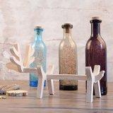 Wooden Deer Bottle Lamp