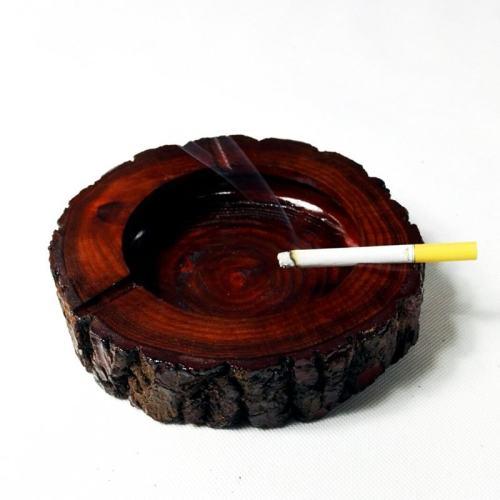 Natural Wood Piece Ashtray