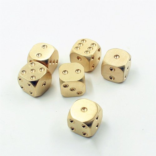 Brass Dice Set