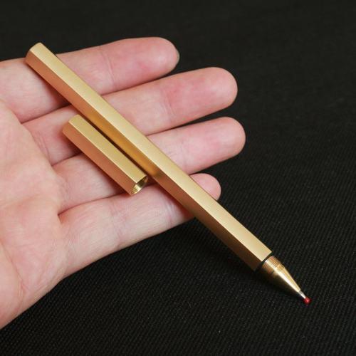 Personalized Hexagon Brass Pen