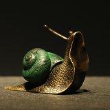 Colored Brass Snail
