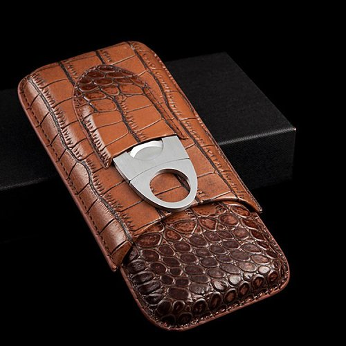 Genuine Leather Cigar Case