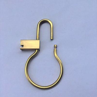 Brass Lock Keychain