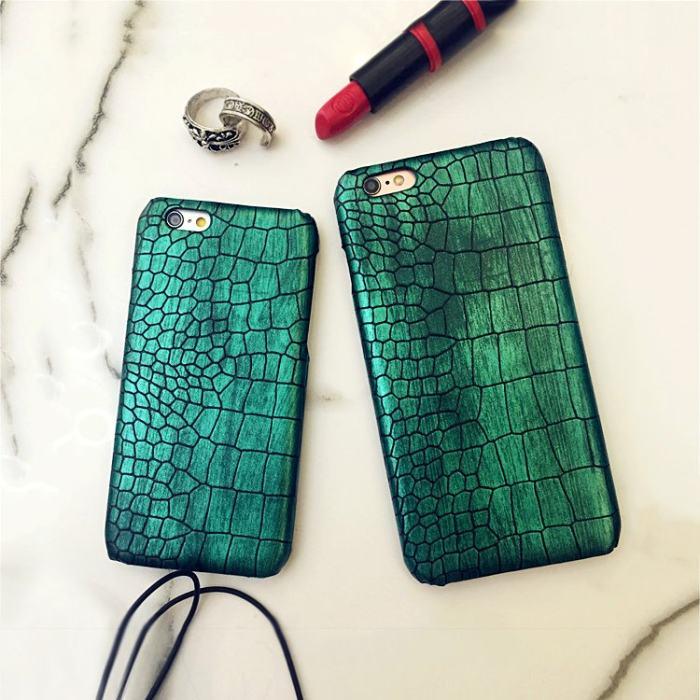 Blackish Green Crocodile iPhone Case