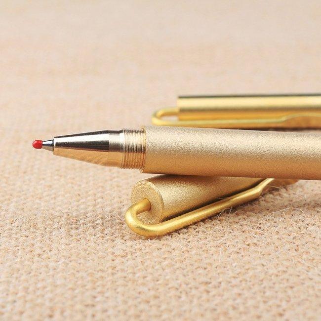 Personalized Brass Clip Ballpoint Pen