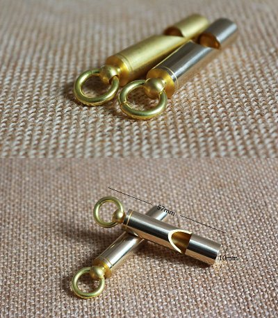 EDC Brass Whistle