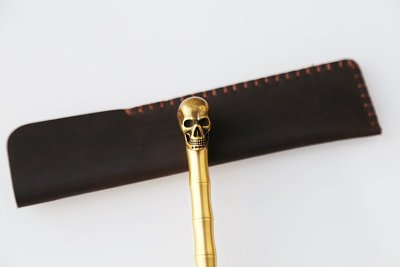 Clearance Sale Brass Skull Pen