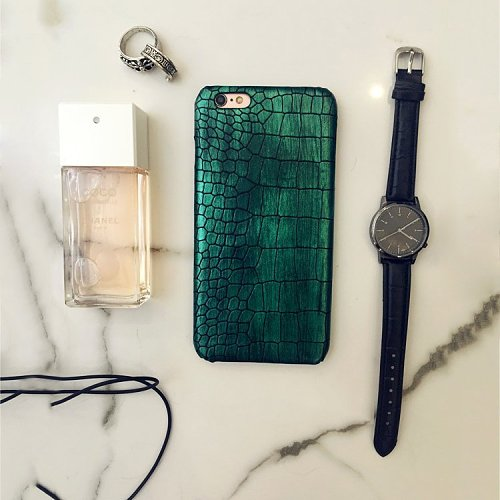 Blackish Green Crocodile iPhone Case