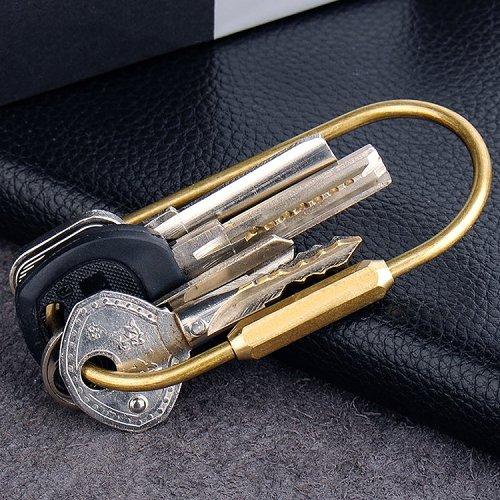 O-Shape Brass Keychain
