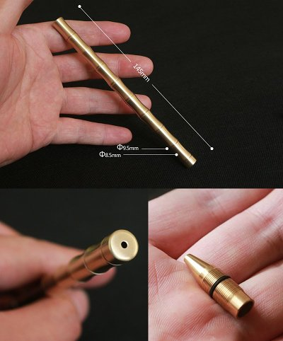 Personalized Brass Bamboo Joint Pen