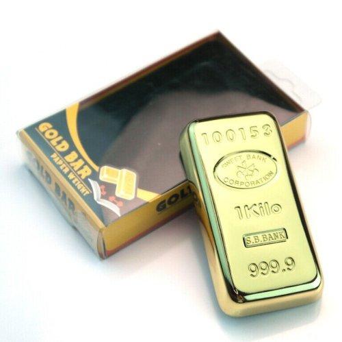 Gold Bullion Paperweight