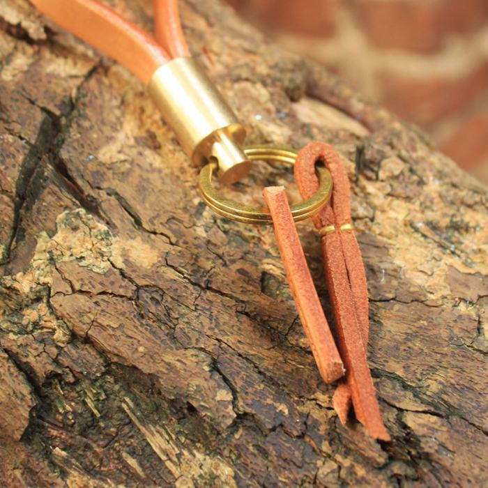 Vintage Brass Keychain