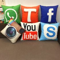 Social Icon Pillow