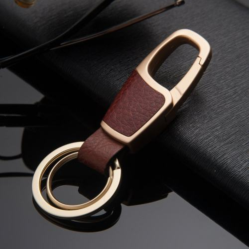 Leather Wrapped Keychain