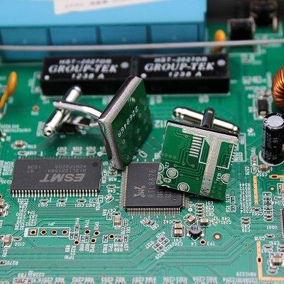 Circuit Board Cufflinks