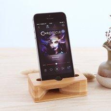 Bamboo iPhone Speaker Dock