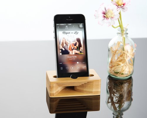 Bamboo iPhone Speaker Dock