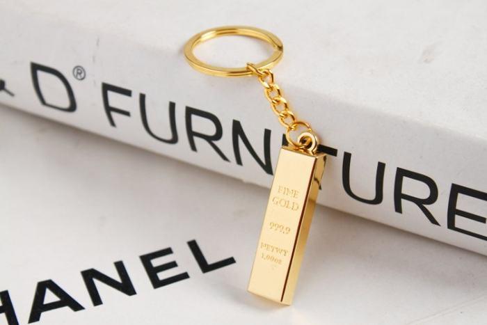 Gold Bullion Keychain