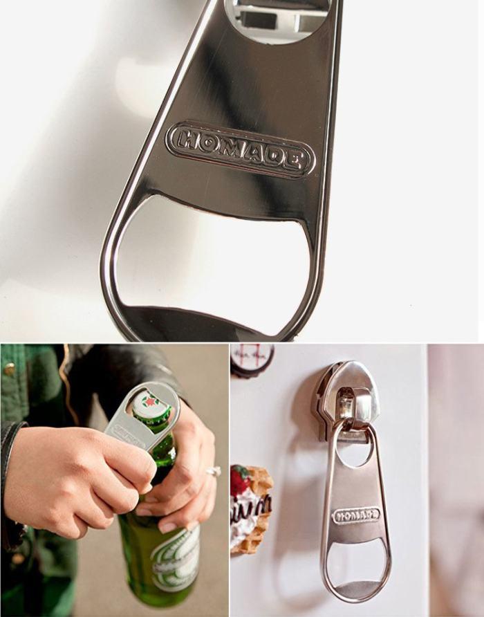 Magnet Zipper Bottle Opener