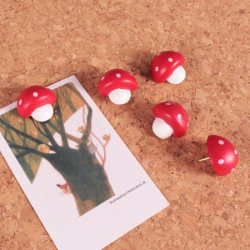 3D Mushroom Push Pins
