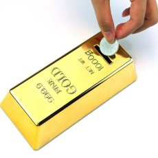 Gold Bar Piggy Bank Feng Shui Decoration Lucky