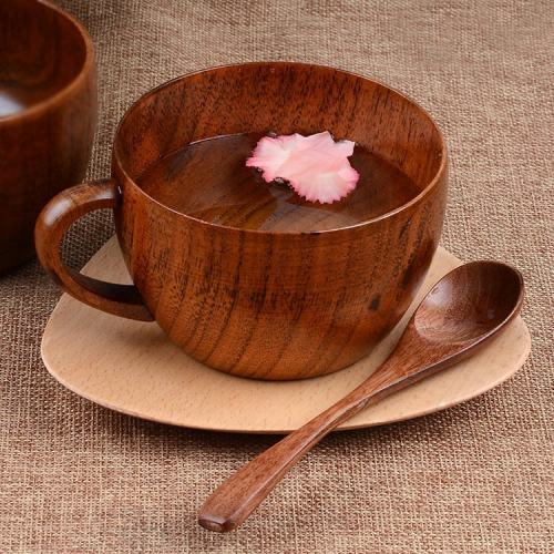 Wooden Coffee Mug and Spoon Set