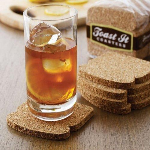 Cork Toast Coasters Bread Coaster Set 8pcs Home Decor
