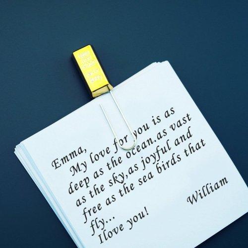 Gold Bullion Paper Clip