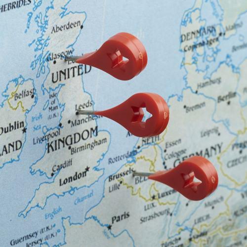 Map Marker Push Pins