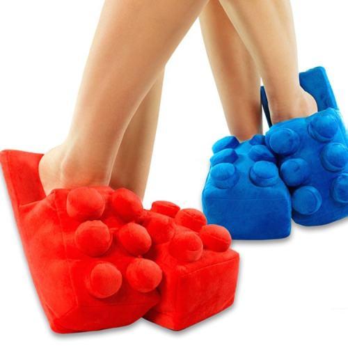 Building Brick Slippers