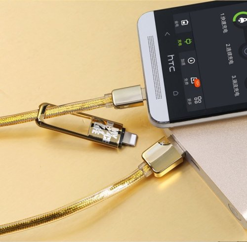 Clearance Golden Noodle Two in One Charging Cable
