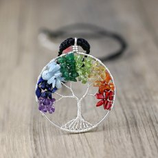 Tree of Life Rainbow Necklace