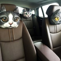 3D Animal Charcoal Car Pillow