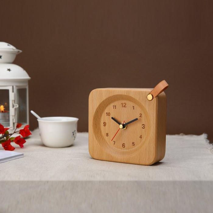 Wood Alarm Clock for Bulk Order OEM MOQ 50pcs